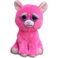 Интерактивная игрушка Feisty Pets Добрые Злые зверюшки Плюшевая Розовая Кошка 20 см