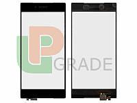 Тачскрин для Sony E6833 Xperia Z5 Premium Dual Sim/E6853/E6883, черный, оригинал (Китай)