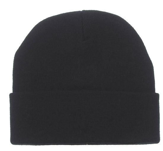 шапка вязаная короткая акриловая чёрная Pro Company 10963a продажа