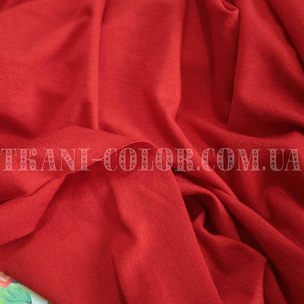 Трикотаж вискоза красная, Китай, 180см, фото 2