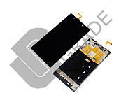 Дисплей  Xiaomi Mi3 + тачскрин, черный, с передней панелью, оригинал