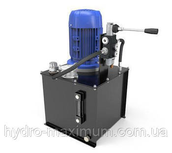 Маслостанция с ручным управлением. Подача 11 литров в минуту, давление от 35 до 160 бар