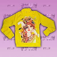 Желтый трикотажный гольф для девочки Cool Girl