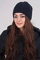Теплая двойная шапочка на подкладке