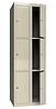 Шкаф одежный металлический 300/2-6, размеры 1800х600х500мм, 6 секций, гардеробный шкаф в раздевалку 2963600