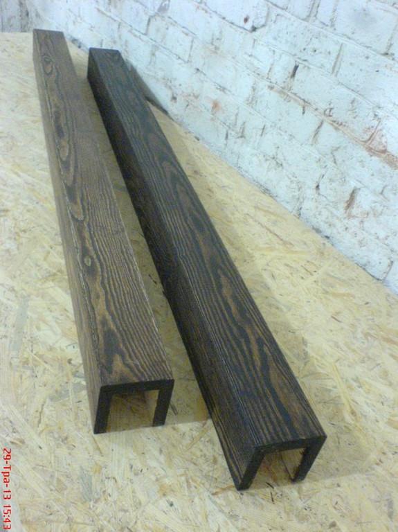 Деревянные фальшбалки, панели