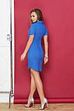 Стильное Платье-поло с застежкой-планкой на кнопки и накладным карманом 44-54р, фото 2