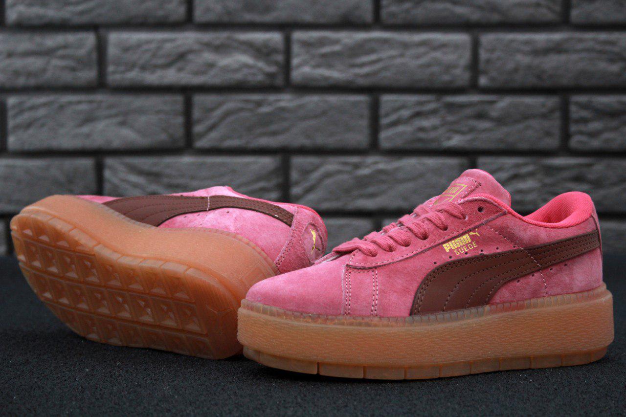 Кроссовки женские в стиле Puma Suede код товара KD-11509. Розовые -  Интернет- ac63e0c795c0e