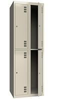 Шкаф одежный металлический 300/2-4, размеры 1800х600х500мм, 4 секции, гардеробный шкаф в раздевалку 2942600