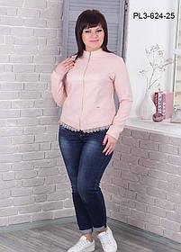 Женский жакет полуприлегающего силуэта без подкладки размер 50-56