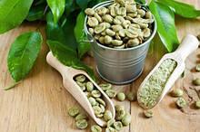 Зеленый кофе молотый и зерновой.