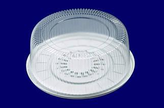 Пластиковая круглая упаковка для торта №1
