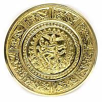 "Тарелка настенная бронзовая ""Танцующий Шива"" (d-18,5 см)(Wall Plate Natraj 8"") ( 24722)"