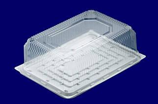 Пластиковая прямоугольная упаковка для торта
