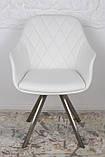 Кресло поворотное ALMERIA белый кожзам Nicolas (бесплатная доставка), фото 3