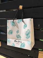 Подарочный пакет Пальмовые Листья 25 см (большой)