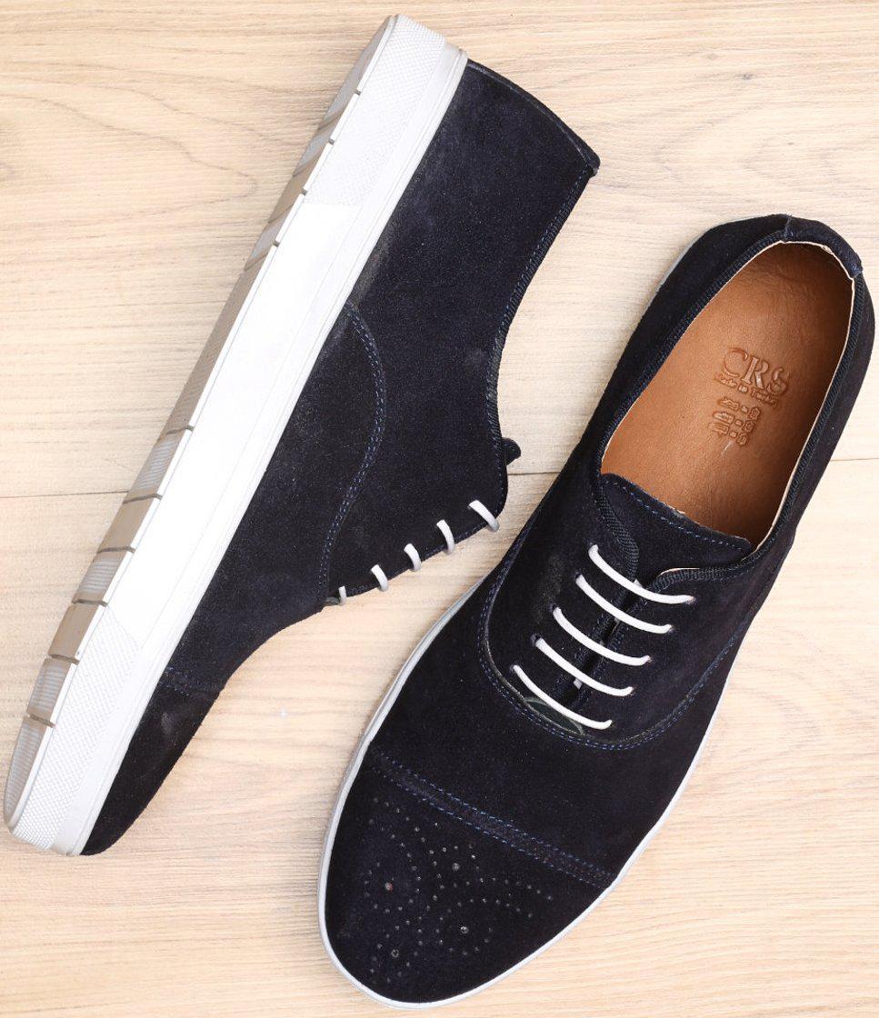 Туфли синие мужские на белой подошве