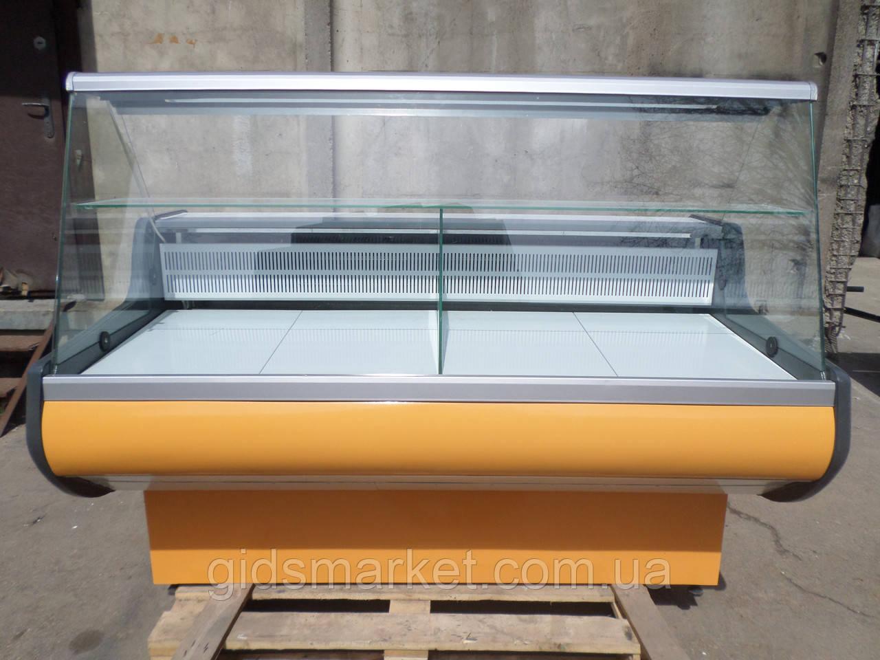 Витрина холодильная Росс 1,6 м. бу., гастрономический прилавок бу.