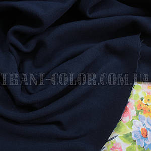 Пальтовая тканина кашемір темно-синій