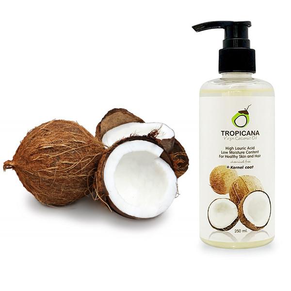 Кокосовое масло первого холодного отжима Tropicana virgin coconut oil, 250 г