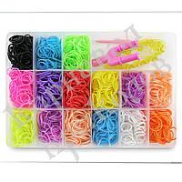 Оптовая распродажа! Резиночки для плетения Органайзер (1000шт) Средний