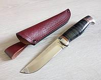 Нож охотничий с кожаной ручкой, фото 1