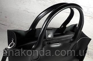 71 Натуральная кожа,Сумка женская, черный, фото 2