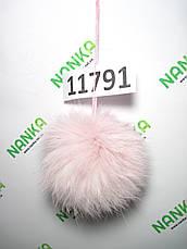 Меховой помпон Кролик, Неж. розовый, 9 см, 11791, фото 2