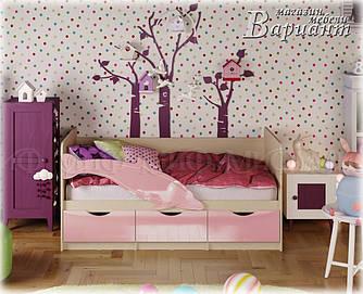 Детская кровать Дельфин-1 МДФ 1,8м металлик