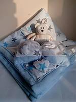 Одеяло детское с бантом и подвеской сердечки скл _kidsdream_
