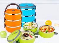 Термо ланч бокс из нержавеющей стали для еды Lunchbox Three Layers 3*700мл