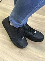 Черные кроссовки женские Nike Air Force (копия)