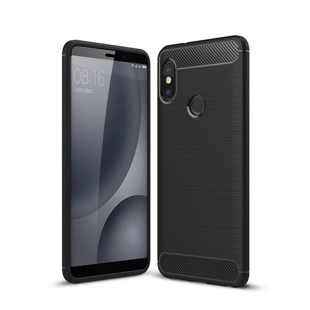 Чехол накладка для Xiaomi Redmi Note 5 Pro | Xiaomi Redmi Note 5 | Xiaomi Mi 6X силикон Carbon, черный