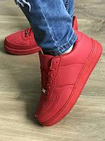 Красные  кроссовки женские Nike Air Force (копия)