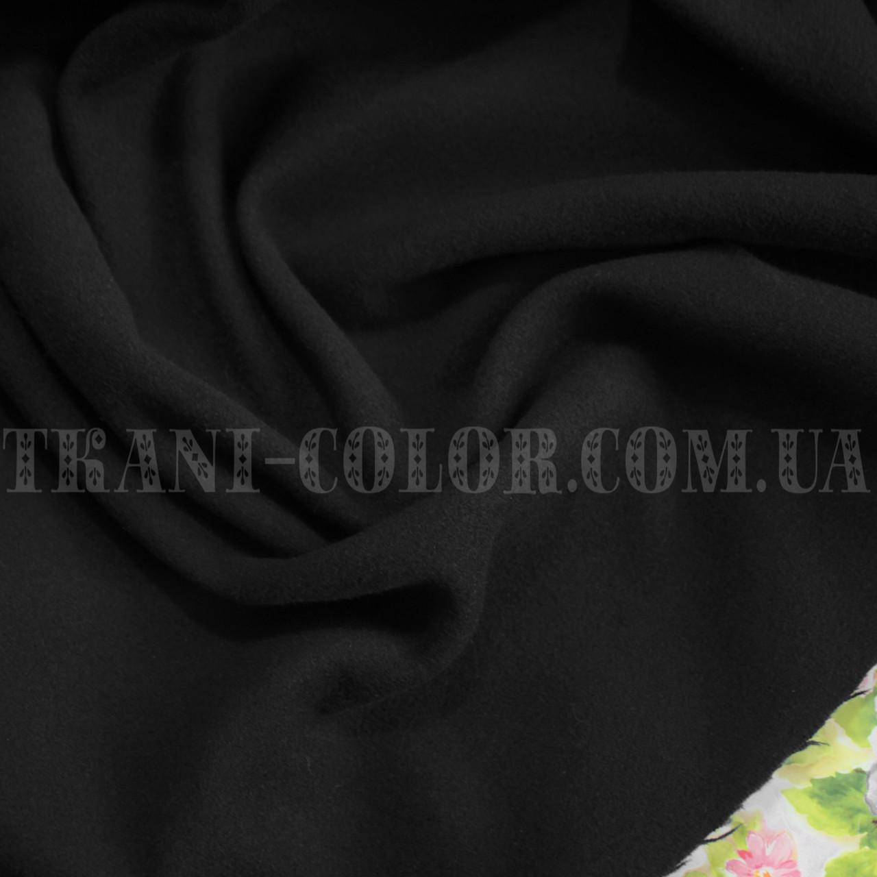 Пальтовая ткань кашемир черный
