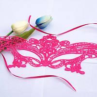 Розовая ажурная маска