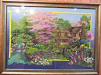 Картина вышита чешским бисером (ручная работа), 76х56 см, 5000