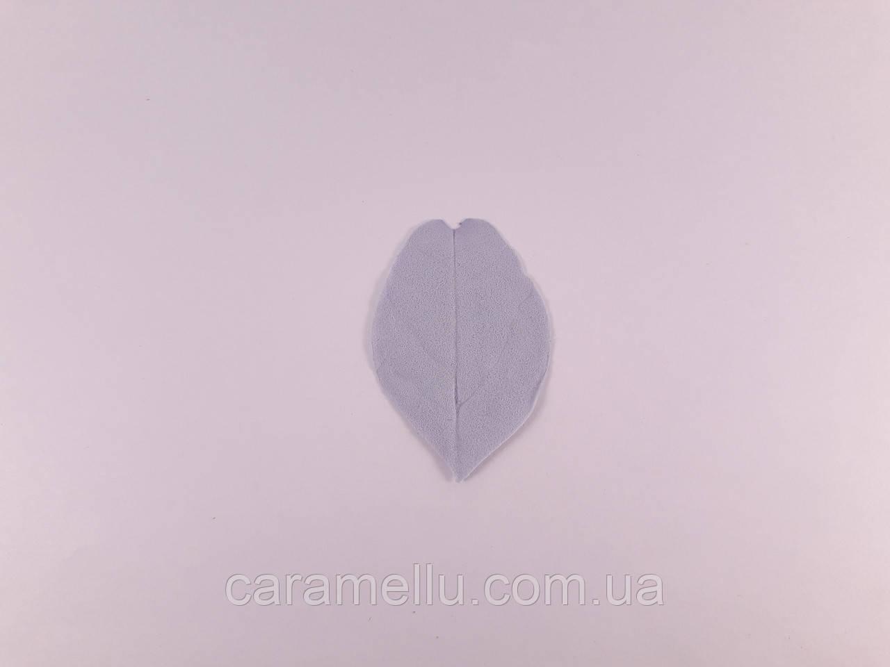 Лист эвкалипта. Цвет серый 1шт.  4см