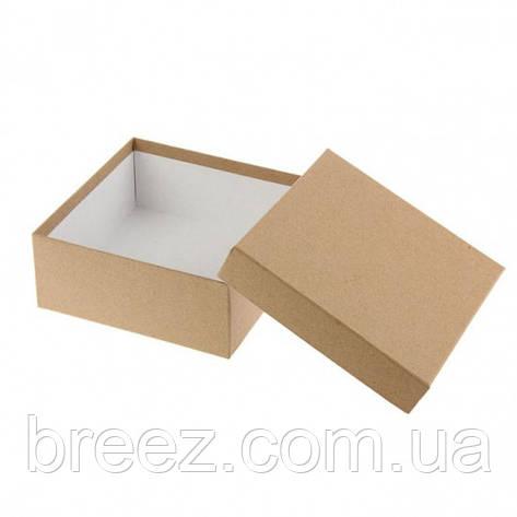 Подарочная коробка крафт 28х28х8 см, фото 2
