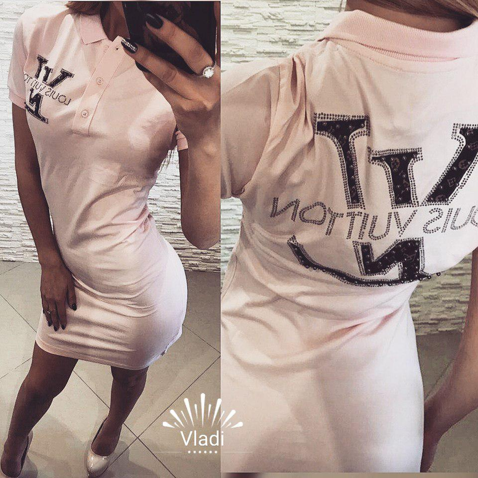 Платье Louis Vuitton .Отделка камни. Размеры с,м,л,хл.  (11328)
