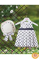 Платье и шляпка для девочки 1-3 года (80, 86, 92, 98 размер)