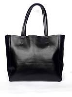 """Женская кожаная сумка """"Fussy"""" черная"""