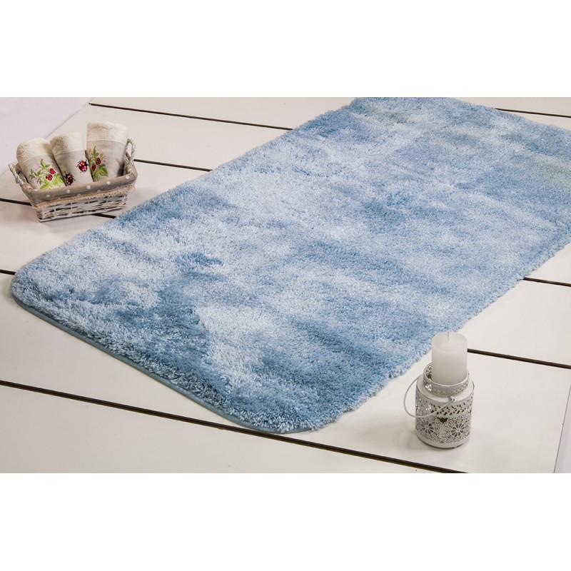 Коврик для ванной Confetti - Miami pastel mavi голубой 57*100