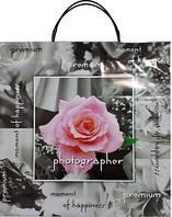 Пакет пласт руч 40*40 Роза