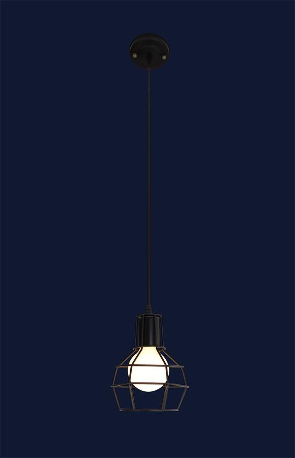 Подвесной светильник на одну лампу 7079002-1 BK