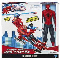 Спайдермен высотой 30см. и Паутина- вертолет Spider-man Titan Hero Series. Оригинал Hasbro, фото 1