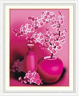 """Алмазная живопись """"Розовая сакура"""" (набор алмазной вышивки)"""