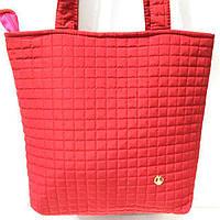 Женские стеганные сумки дешево опт (красный)31*34, фото 1