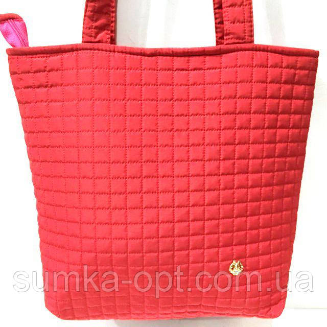 Женские стеганные сумки дешево опт (красный)31*34