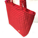 Женские стеганные сумки дешево опт (красный)31*34, фото 2